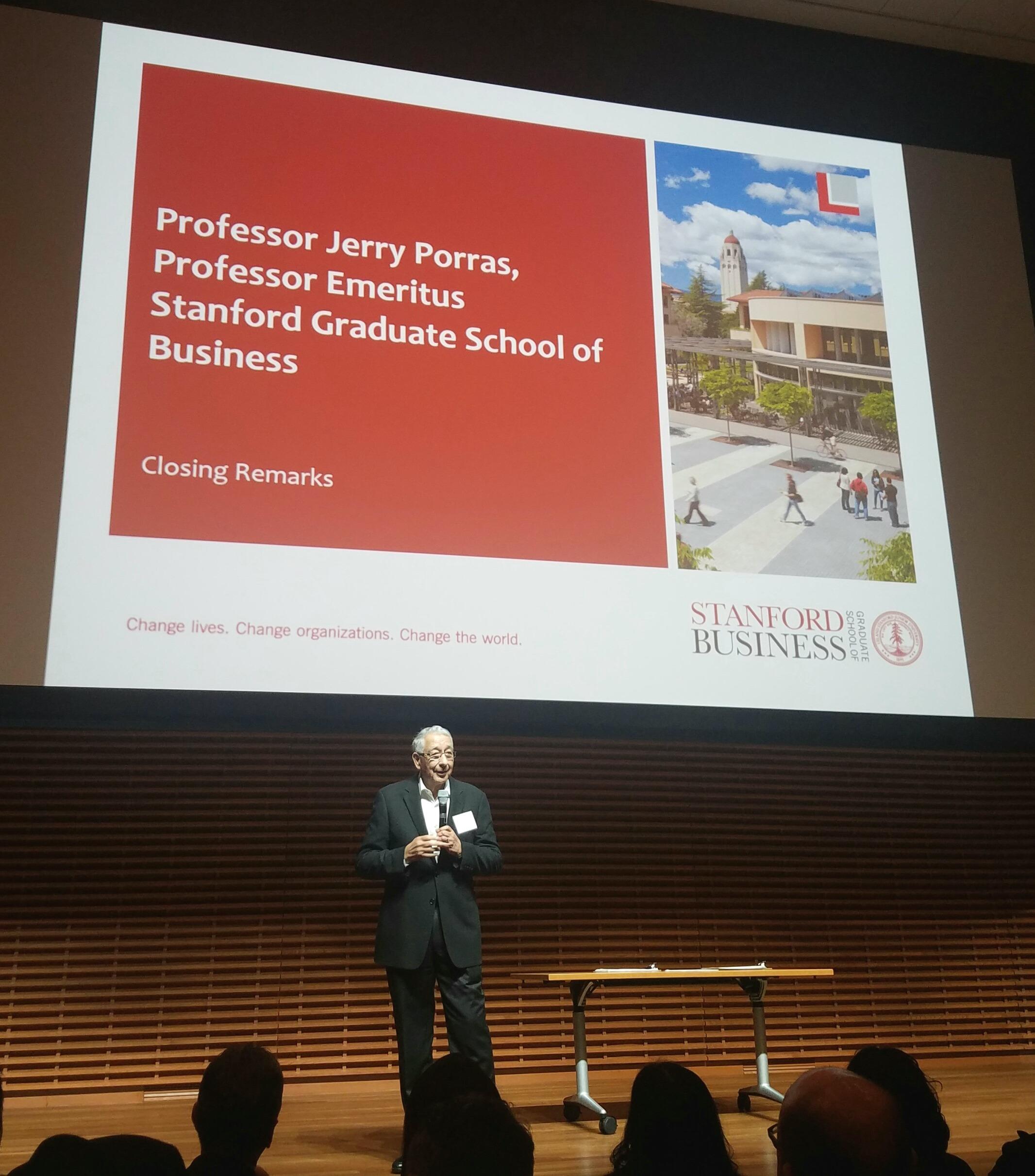 Jerry Porras, Professor Emeritus at Stanford Graduate School of Business